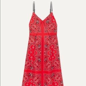 Alexander wang Silk Midi Bandana Printed Dress
